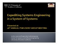 Expediting Systems Engineering with a System of System