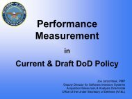 Performance Measurement - Practical Software and Systems ...