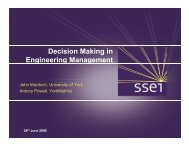 Decision Making in Engineering Management - Practical Software ...