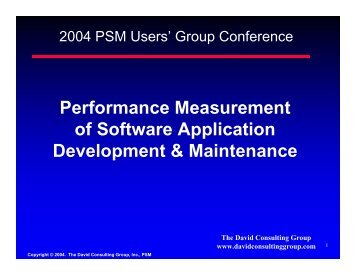 Performance Measurement of Software Application Development ...