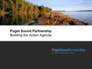 Topic Forums - Puget Sound Partnership