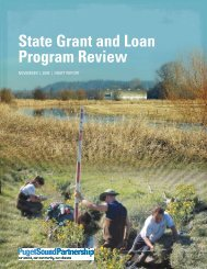 State Grant and Loan Program Review - Puget Sound Partnership