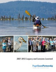 2007-2012 Legacy and Lessons Learned - Puget Sound Partnership