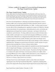 PSSU Synthesis draft 12_13_2010-1 - Puget Sound Partnership
