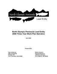 North Olympic Peninsula Lead Entity 2008 Three Year Work Plan ...