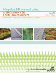 Integrating LID into local codes: - Puget Sound Partnership