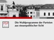 Steuerpolitische Programme der Parteien zur ... - Taxlinks