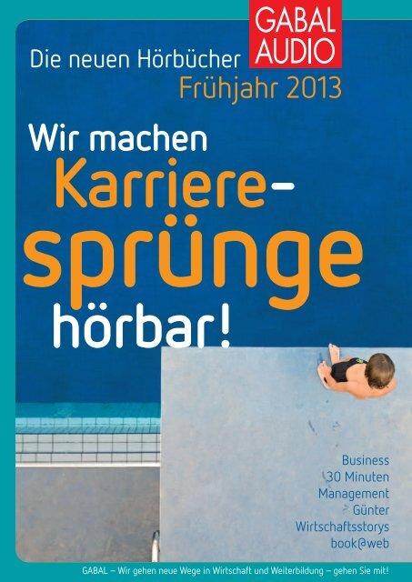 Vorschau Audio Frühjahr 2013 - GABAL Verlag