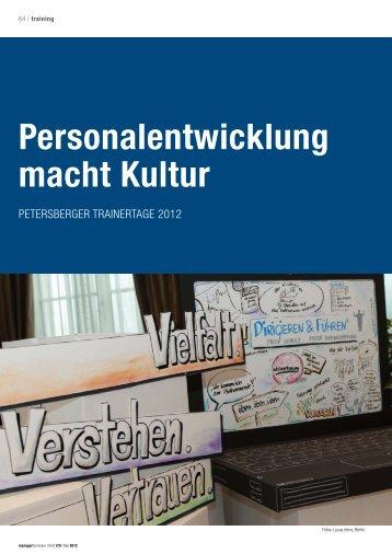 Personalentwicklung macht Kultur - PS:PR