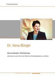 Pressemappe Dr. Ilona Bürgel - PS:PR