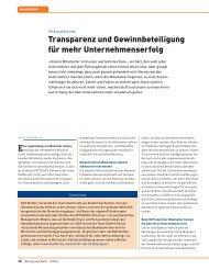 Transparenz und Gewinnbeteiligung für mehr ... - PS:PR