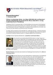Presseinformation und Einladung - PS:PR