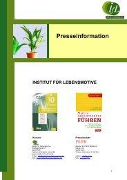 Pressemappe Institut für Lebensmotive - PS:PR