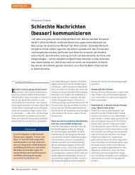 Schlechte Nachrichten (besser) kommunizieren - Arno Fischbacher