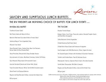 savory and sumptuous lunch buffets savory and sumptuous lunch ...