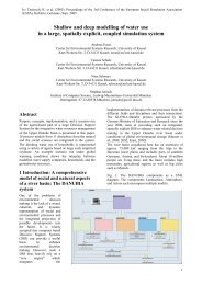 Shallow and deep modelling of water use in a large ... - GLOWA