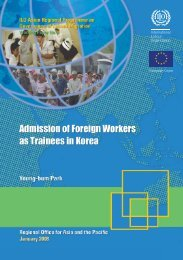 Admission of foreign workers as trainees in Korea