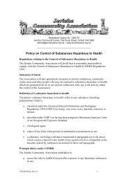 COSHH Policy JCA 1.0