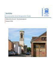 Jericho Study - October 2010 - Oxford City Council