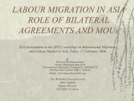 labour migration in asia role of bilateral agreements