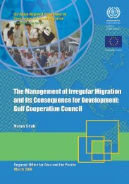 The management of irregular migration and its consequence for ...