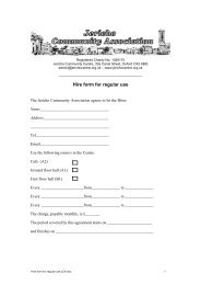 Hire form for regular use