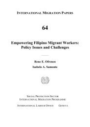 Empowering Filipino Migrant Workers - International Labour ...