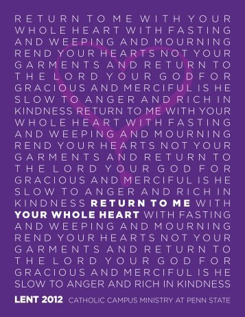 returntomewithyour whole heart with fasting and weeping and ...
