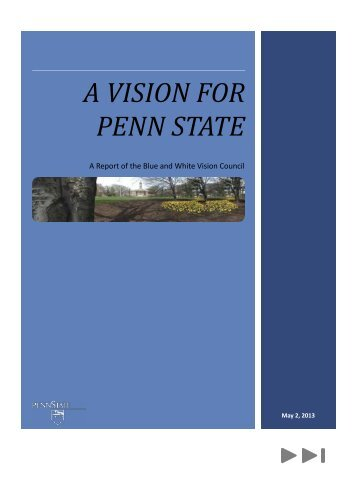 A VISION FOR PENN STATE - Penn State University