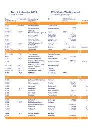 Terminkalender 2009 - PSV Grün-Weiß Kassel eV