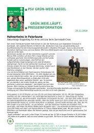 PSV GRÜN-WEIß KASSEL GRÜN.WEIß.LÄUFT ...