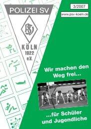 Wir machen den Weg frei… - Polizei Sport Verein Koeln 1922
