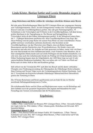 Turniertext September06 - PSV-Löningen Ehren