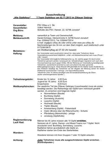 Druckversion als pdf. - PSV Zittau