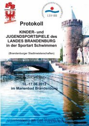 Kinder- und Jugendspiele/Stadtmeisterschaften, Brandenburg/H.
