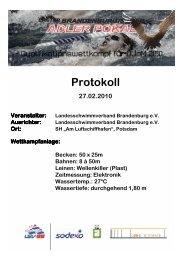 Adlerpokal, Potsdam - PSV Cottbus 90 eV Abteilung Schwimmen