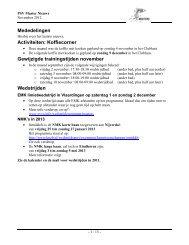 PSV Masters Nieuws november 2012