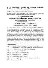 """""""Aufgabenheft 2012 - Vorstellung der neuen Dressuraufgaben"""""""