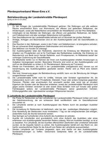 Pferdesportverband Weser-Ems e.V. Betriebsordnung der ...
