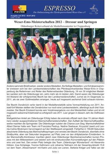 ESPRESSO - Pferdesportverband Weser-Ems e.V.