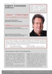 """Salaam"" – Frieden-Sinfonie - Andreas Janotta Arts Management"