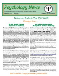 UAS Nwsltr Aug 03 For Editing - University of Miami, Psychology