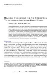 religious involvement and the intoxication trajectories of low income ...