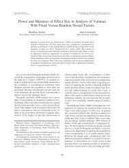 Power and measures of effect size in analysis of variance with fixed ...