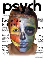 October, 2012 - Premier Issue - University of Miami, Psychology