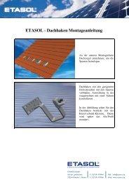 ETASOL - Dachhaken Montageanleitung - zur ETASOL