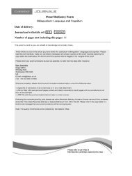 Date of delivery: Journal and vol/article ref: BIL ... - McGill University