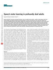 Speech motor learning in profoundly deaf adults - McGill University