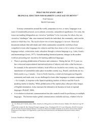 What do we Know about Bilingual Education for ... - McGill University
