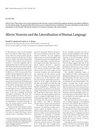 Mirror Neurons and the Lateralization of Human Language